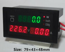 80-300V AC 100A energy power electricity meter Ammeter Voltmeter Spannung Strom