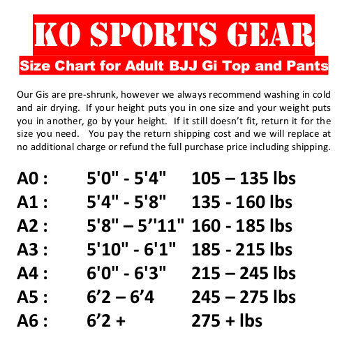 For Jiu Jitsu KO Sports Gear/'s White Gi Pants Rip Stop