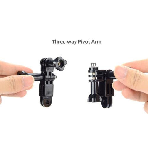 Perilla del pulgar para bicicleta de montaje de cámara Conjunto de tres vías brazo de pivote Adaptador De Extensión
