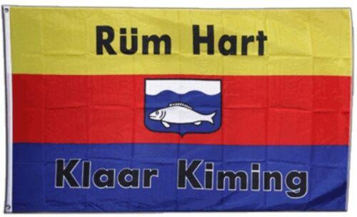 Fahne Deutschland Nordfriesland Rüm Hart klaar Kiming Flagge friesische Hissflag