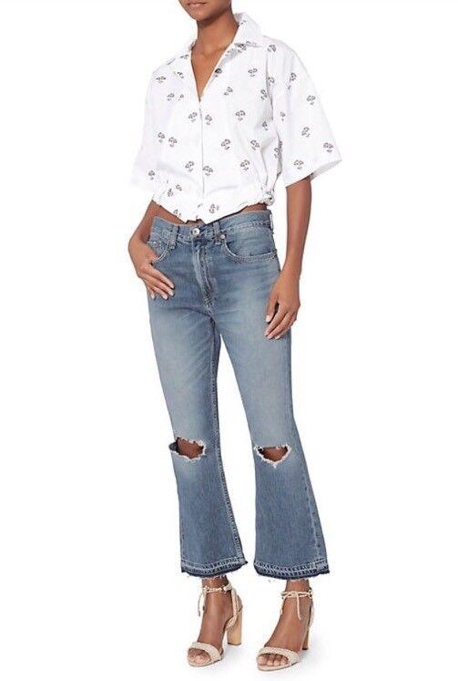 NWT Rag And Bone  Jean Woman Crop And Flair Jeans SZ 27  275 High Waist