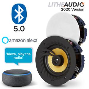 Lithe-Audio-Bluetooth-los-altavoces-de-techo-par-con-Amazon-Alexa-Echo-Dot-3rd-Gen