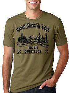 a130c2364843 Camp Crystal lake T-shirt Counselor T-shirt Camping Camp Tee shirt ...