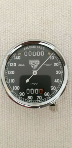 Smiths S.433//5//L speedometer faces early post war  Kilometres.
