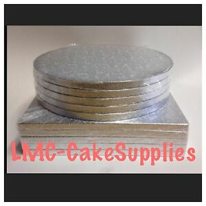 Silver Round Square Cake Drum Boards Professional 12mm Strong Base 6034  16034 - <span itemprop=availableAtOrFrom>Leighton Buzzard, Bedfordshire, United Kingdom</span> - Returns are accepted within 5 days, if the item is damaged. Most purchases from business sellers are protected by the Consumer Contract Regulations 2013 which give  - Leighton Buzzard, Bedfordshire, United Kingdom