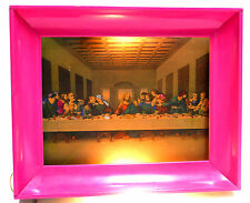 Vintage Religious Lighted Frame - THE LAST SUPPER - JESUS PICTURE