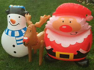 image is loading novelty inflatable snowman santa claus blow up christmas
