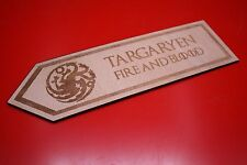 Wooden Bookmark Game Of Thrones Targaryen Dragons Sigil Blood and Fire plywood