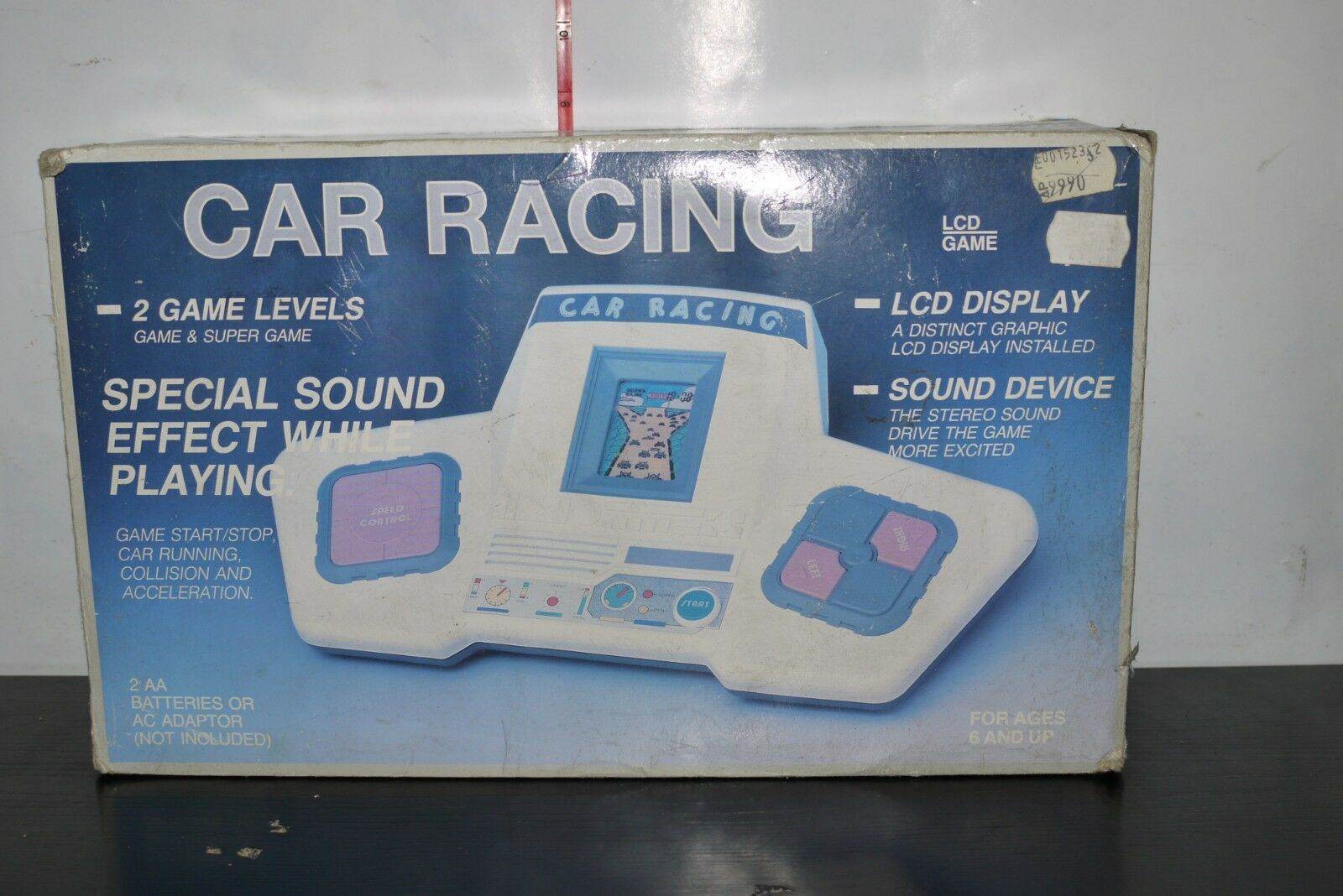 Bil Racing LCD Electronic Hand HELD Spel Telstjärna BOXED