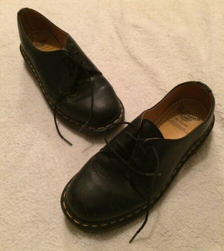 Dr Martens 6 Tie Black Leather Shoes Oxfords Women