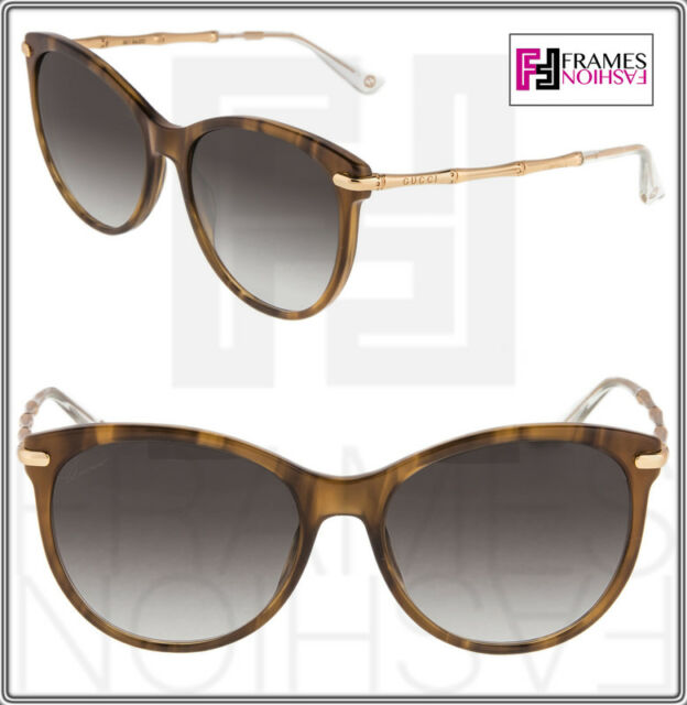 cb02a3193bca9 GUCCI GG3771S Brown Red Horn Gold Bamboo Sunglasses Bio Based 3771 Oversized