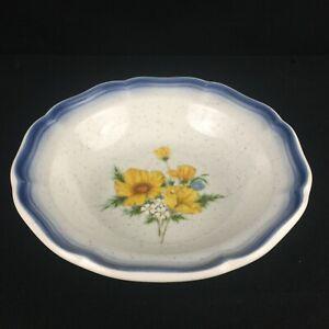VTG-Fruit-Dessert-Bowl-7-25-034-Mikasa-Country-Club-Amy-Yellow-Floral-CA503-Japan