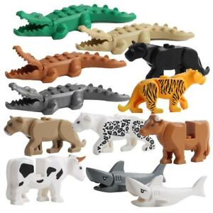 LEGO-12PCS-Crocodile-Tiger-Cow-Buildable-Model-Kids-Animal-Building-Block