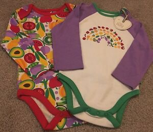 Little-Bird-By-Jools-Oliver-Baby-Rainbow-Vegetable-Vests-New-3-6-Months
