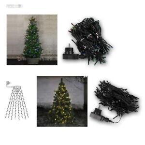 lichterkette f r weihnachtsbaum 160 led 8 str nge baumvorhang ip44 innen au en ebay. Black Bedroom Furniture Sets. Home Design Ideas