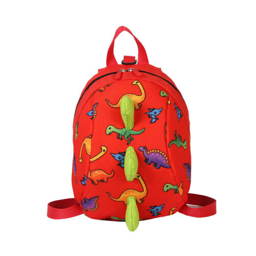 1pc Cartoon Toddler Kids Dinosaur Safety Harness Strap Bag Backpack With Reins