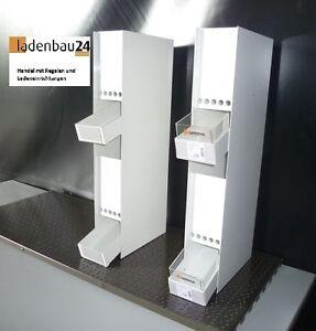 2-x-Produktspender-Warenpraesenter-Metall-60-cm-h-23-cm-t-9-5-cm-b