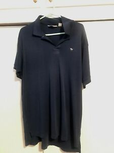 Vintage-90s-The-Mens-Store-At-Sears-Soft-Golf-Polo-Shirt-Navy-Blue-Mens-Size-XL