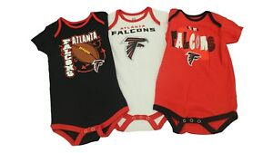 Atlanta-Falcons-NFL-Official-Infant-Baby-Size-3-Piece-Creeper-Set-New-With-Tags