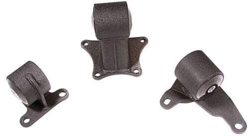 BLACK 75A INNOVATIVE STEEL MOUNT KIT 90-93 ACCORD H22 M//T 4-BOLT REAR MOUNT