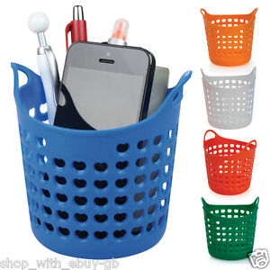 Image Is Loading Desk Organiser Wash Bin Basket Tidy Pen Pencil