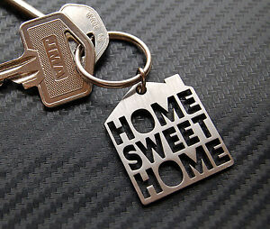 HOME SWEET HOME New House Moving Gift Keyring Keychain Key Bespoke