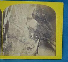 1860s Suisse Stereoview 185 Entree De La Gorge De Pfafers Alpine Club W England