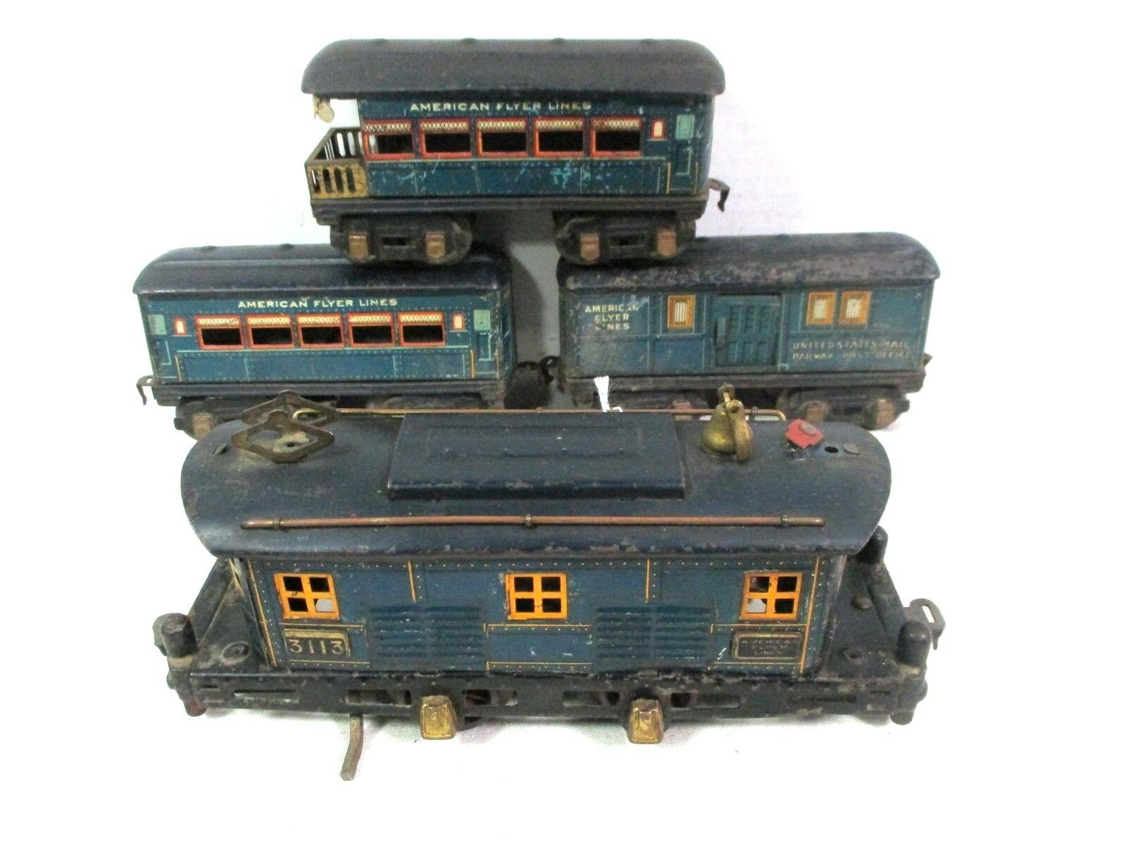 American Flyer blueebird 3113 Set O Gauge Pre War Vintage Model Train B19
