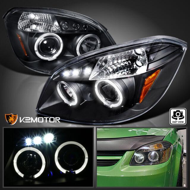2005 2010 Chevy Cobalt 2007 2009 Pontiac G5 Led Drl Projector Headlights Black