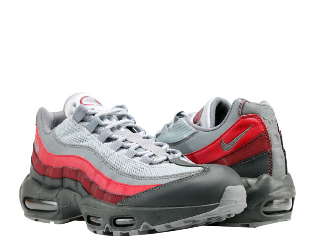 reputable site 5e4a4 d5da2 Nike Air Max 95 Essential Mens 749766-025 Cool Grey Red Running Shoes Size 9