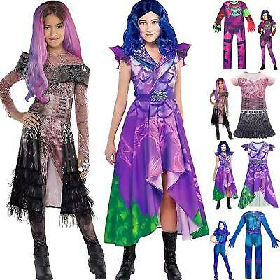 Girl Descendants 3 Evil Audrey Mal Jumpsuit Christmas Cosplay Fancy Dress Outfit