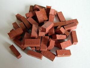 (g3-12) Maison De Poupées X 50 En Bois Argile Couleur Briques-afficher Le Titre D'origine ModéLisation Durable
