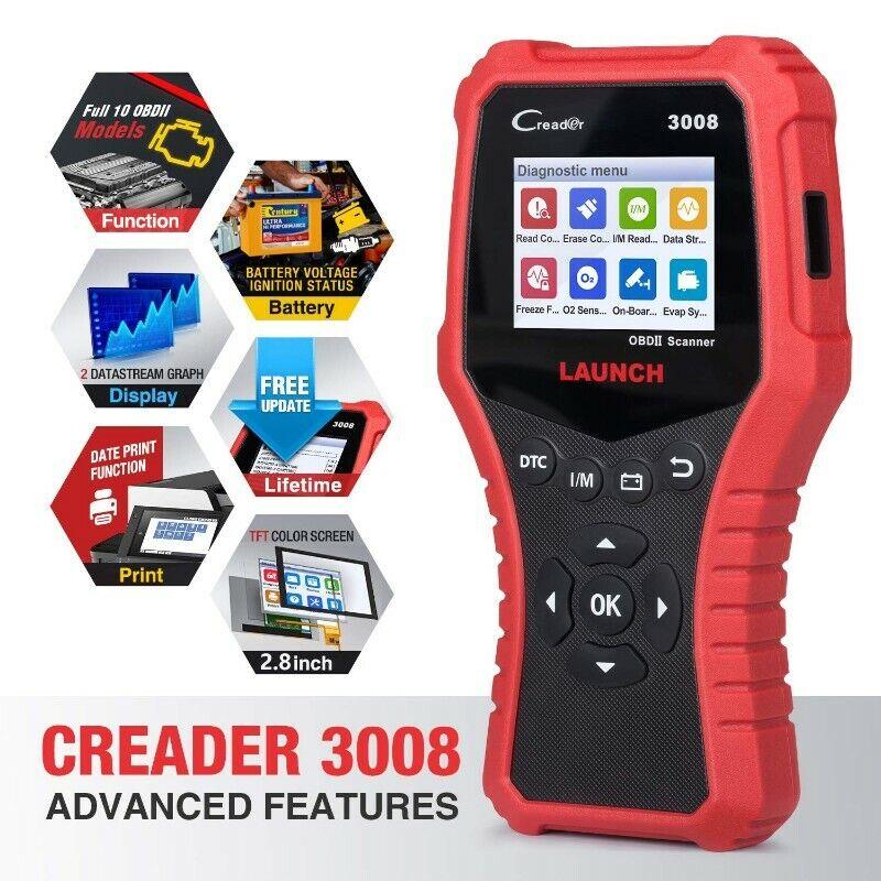 LAUNCH Creader 3008 CR3008 Professional OBD2 Scanner Enhanced