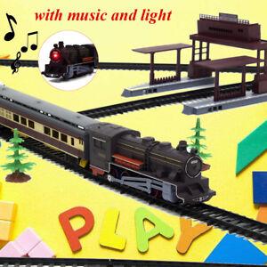 Grand-Electrique-Classique-Train-Rail-Vehicule-Jouet-Enfants-Set-Piste