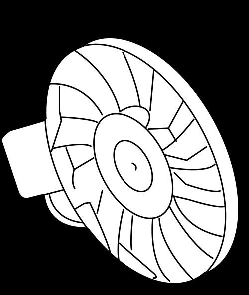 04 05 06 Vw Phaeton Engine Radiator Cooling Fan Motor Module Righ