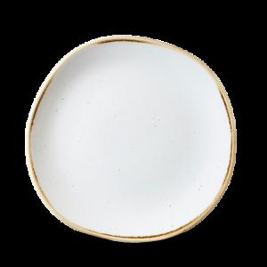 Churchill STONECAST Organic Round Plate Barley White Teller Platte 21 cm weiß