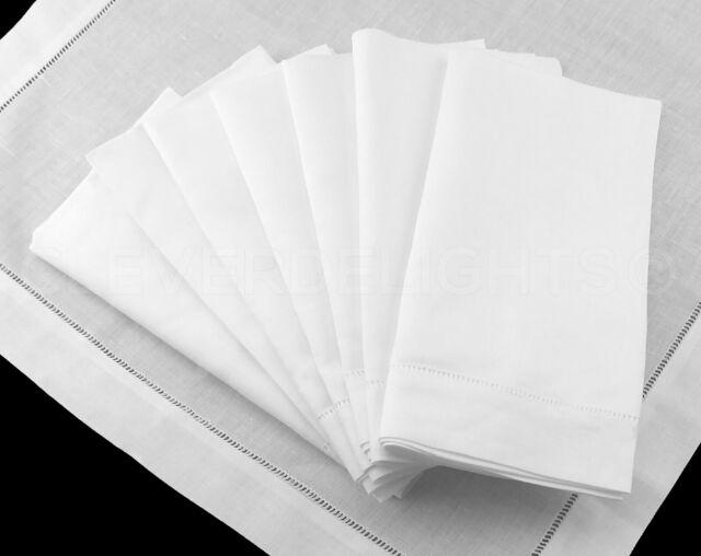 50 new white wedding cotton restaurant dinner cloth linen napkins premium 20/'/'