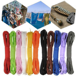 New-100FT-Tent-Guy-Rope-550-Parachute-Cord-Paracord-Reel-7Strand-Outdoor-Camping