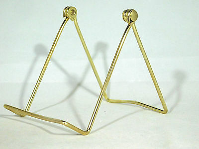 Fossils and More! ONE Large Gold Colored Easel Display Stand for Plates