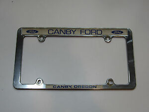 Canby Oregon Ford Dealership License Plate Frame Metal
