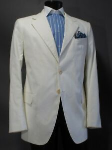 best cheap b322f 5661b Details about Giorgio Armani Collezioni White Sport Coat 44R Light Weight  Cotton Spring Summer