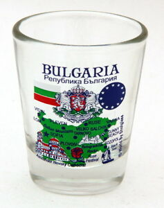 BULGARIA EU SERIES LANDMARKS AND ICONS COLLAGE SHOT GLASS SHOTGLASS