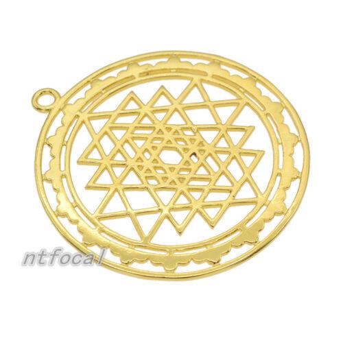 SRI YANTRA Méditation Pendentif en Alliage Rétro Or Méditation Tone Sri Chakra charme