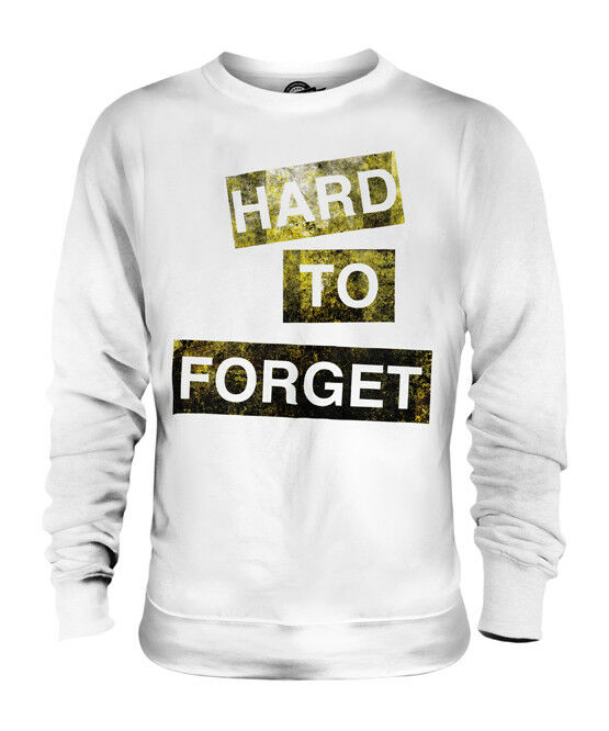 HARD TO FORGET UNISEX FASHION SLOGAN SWEATER TOP SWAG HIPSTER  Herren LADIES