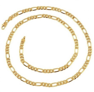 22K-Yellow-Gold-GP-20-034-Inch-Figaro-Chain-Link-5mm-Necklace-N106