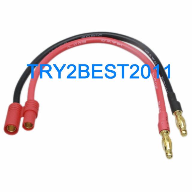 Hxt 4 Mm Bullet Male to Banana Plug Lipo RC Batterie Chargeur plug