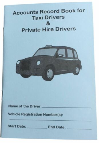 10xWeekly Accounts Record Book for Taxi, Minicab & Hackney Carriage for Tax HMRC