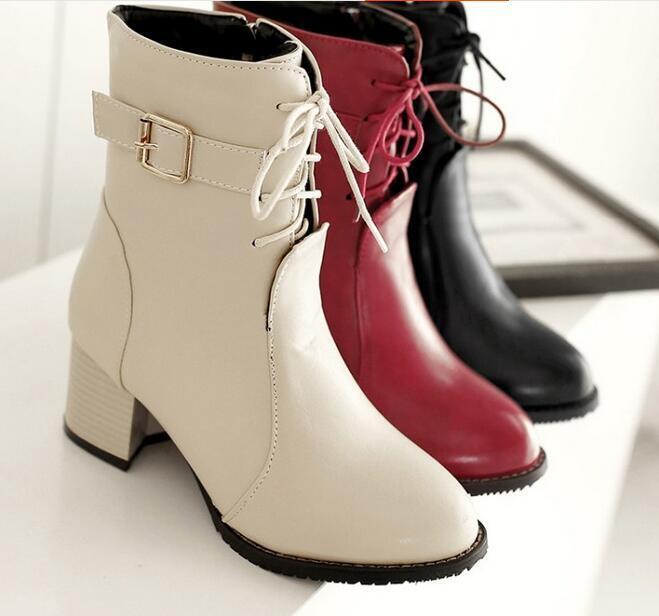 botas zapatos de tacón mujer 6 rojo piel beige negro cómodo como piel rojo 8842 f108f3