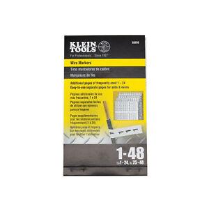 Wire Marker Book, 1-48 Klein Tools 56250