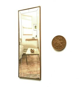 Dolls-House-1-12-scale-Gold-Effect-Floor-Length-mirror-Made-by-BUSHBABY